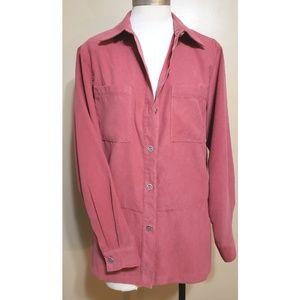 Alfred Dunner Rose Button Down Shirt
